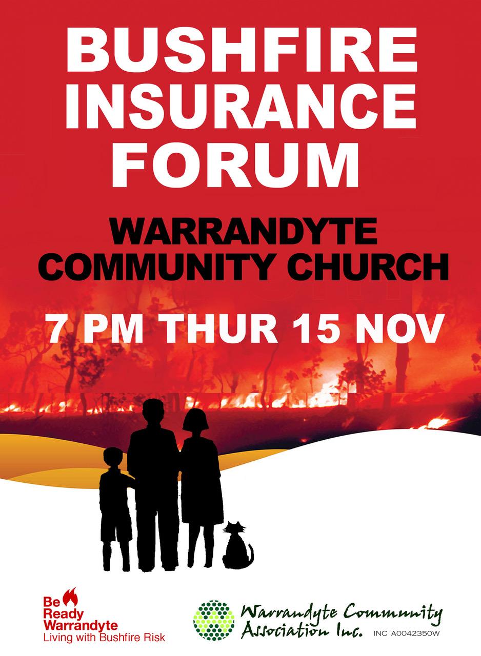 Bushfire Insurance Forum – 15 November 2018